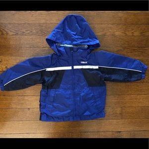 Osh Kosh 2T blue rain jacket with hood
